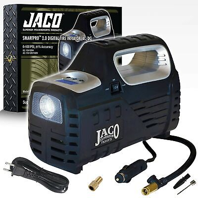 JACO SmartPro 2.0 AC/DC Digital Tire Inflator Pump - Portable Air Compressor