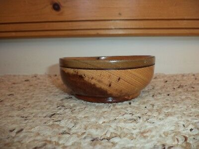 Vintage Small Wood Wooden Turned Bowl Candy Nuts Dish Estate Find