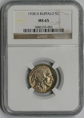 1938-D 5C NGC MS 65 Buffalo Nickel