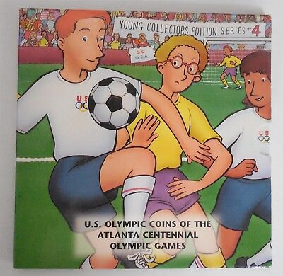 1996 Young Collectors Atlanta Olympics Soccer Half Dollar Set Series 4