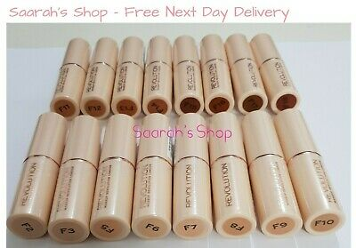 Makeup Revolution Full Coverage Fast Base Foundation Stick 18 Shades Fast Post