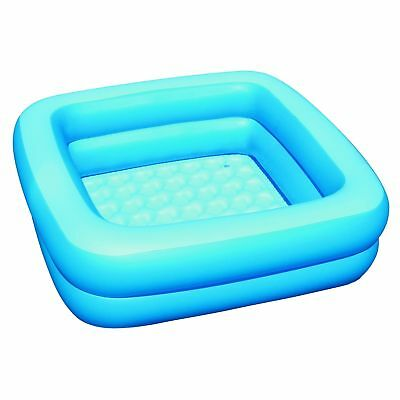 BESTWAY INFLATABLE BLUE BABY BATH 86cm SQUARE NEW