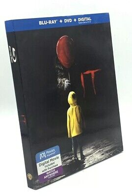 IT (Blu-ray+DVD+Digital, 2018; 2-Disc Set) NEW with Slipcover