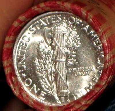 Wheat Penny Roll Uncirculted Mercury Dime & Silver Roos Dime Gem Proof R631