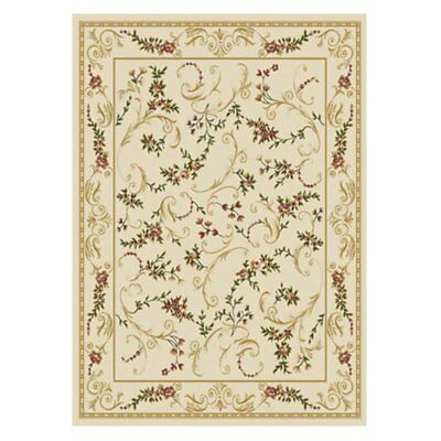 Home Dynamix Ivory Traditional European Bordered Area Rug Floral 11017-100