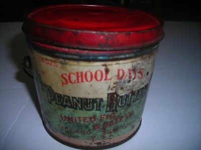 School Days Peanut Butter tin by United Fig and Date Co.