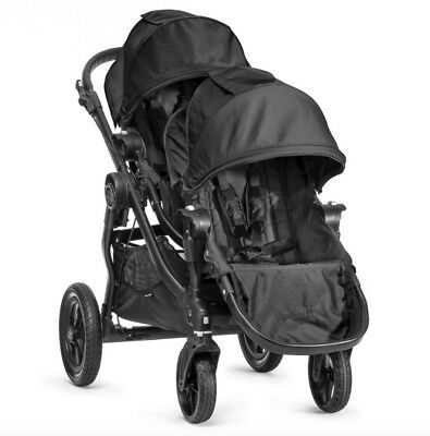 Baby Jogger City Select Twin Double Stroller Black with Second Seat NEW