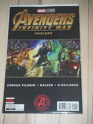 Avengers Infinity War Prelude 1 & 2. Hot books Hard to find. Lot #2 VF/NM
