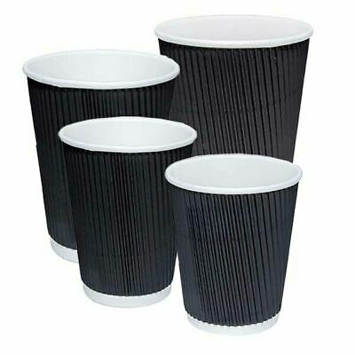 Disposable Coffee Cups Triple Wall Wave 4Oz 8Oz 12Oz 16Oz W/Lids Takeaway Bulk