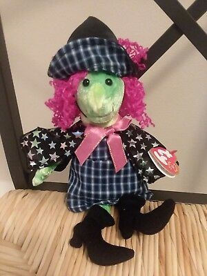 """11"""" Retired SCARY the WITCH Ty Beanie Babies Collection stuffed PLUSH  NWT"""