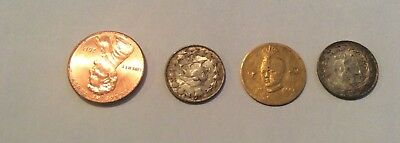 Three persian Coins Silver And Gold