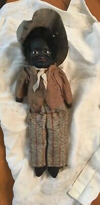 Vintage Black Americana Folk Art Doll - Antique