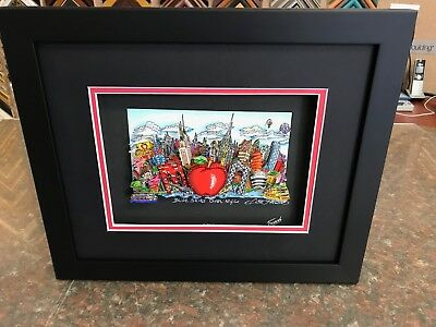 """Charles Fazzino 3D Artwork """" Blue Skies over New York """" Deluxe Edtion Signed"""