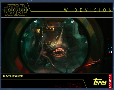Topps Star Wars Card Trader WIDEVISION Redux The Force Awakens Rathtars WV TFA