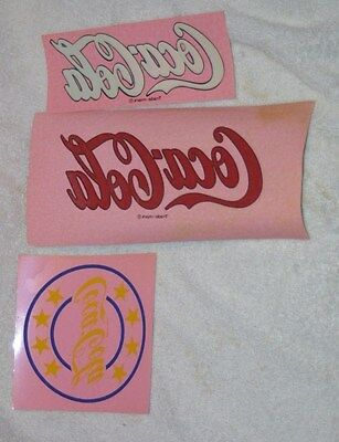 3 Vintage Coca Cola Decal