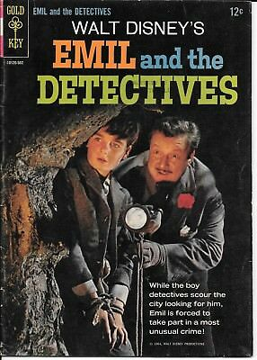 Emil And The Detectives Movie Comic Book Roger Mobley 1964 Walt Disney Gold Key