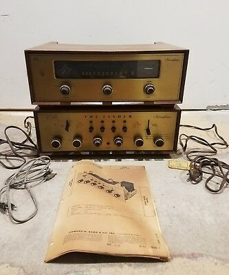 Very Rare Fisher 400C Stereo Tube Vintage Preamplifier & Model Fm-100 Tuner!!