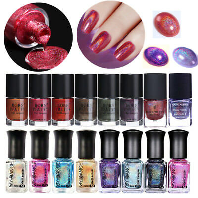 6ml Holographic Laser Nail Polish  Glitter Varnish Decor DIY BORN PRETTY