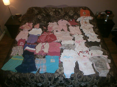 Huge Lot Of 50+ Girls 3 Months - 12 Months Baby Clothes Carters Childrens Place