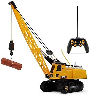 Remote Radio Control Construction Crane Tractor 12 Channel Truck Toy Jcb Builder