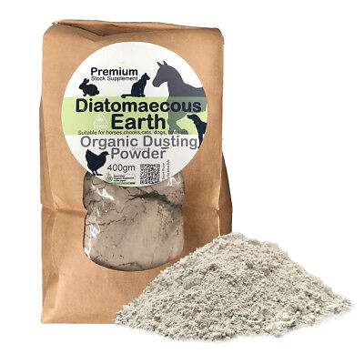 Organic Diatomaceous Earth (Dust) 400g - Animal Food Grade Australian