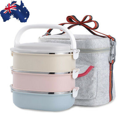 Stainless Steel Portable Lunch Box Thermal Insulated Bento Food Container Boxes