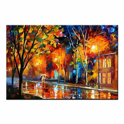 Abstract Oil Painting HD CANVAS PRINTS Poster Woman in Rain Wall Art Home Decor