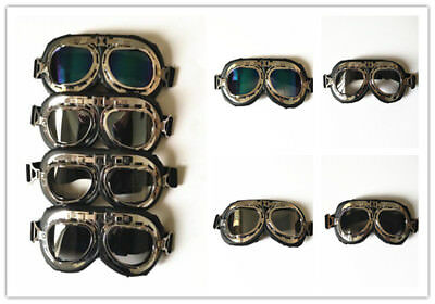 Retro Aviator Pilot Vintage Goggles For Motorcycle Cruiser Cafe Scooter Harley