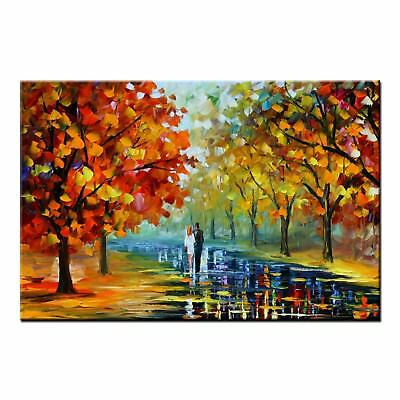 Abstract Oil Painting on CANVAS PRINT Poster Couple Home Wall Decor Art Picture