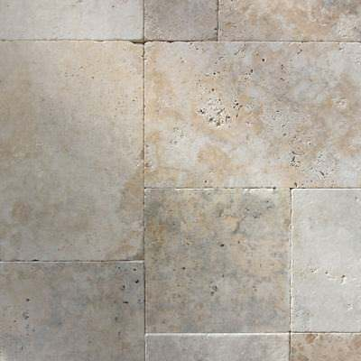 Only $55 m2! 30m Thick French Pattern Grano Mix Tumbled Travertine Paver (#8534)