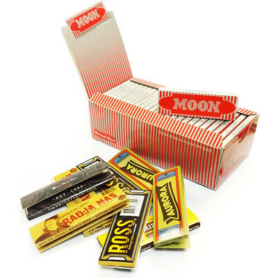 "Moon Red 1.0"" 25 booklets 70*36mm Cigarette Tobacco Rolling Papers Wood Papers"