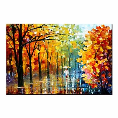 Modern Abstract Oil Painting on CANVAS PRINT Young Woman Poster Home Wall Decor