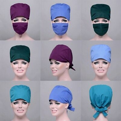 Women & Man Hat Surgery Surgical Doctor&Nurses Scrub Medical Cap Hat Mask New