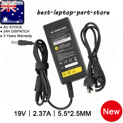 19V 2.37A 45W ADAPTER FOR ASUS TOSHIBA LAPTOP CHARGER POWER SUPPLY + Lead Cord