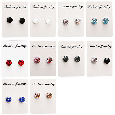Pair Non Piercing Clip on Magnetic Magnet Ear Stud Womens Mens Fake Earrings