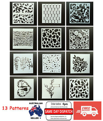 AU Layering Stencils Templates for Scrapbooking Drawing Home Decor Card DIY Gift