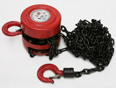 Hilka Block And Tackle Chain Block New 1 Ton Lifting Engine Garage Pulley Hoist