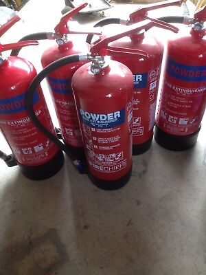 Double Fire Extinguisher Point Stand Site Trolley Rotary Hand Bell Job Lot