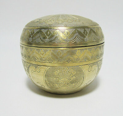 Engraved Brass Box Double Headed Eagle