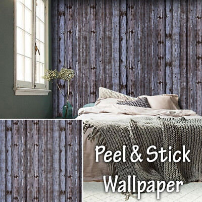 Wood Grain Barn Wallpaper 3D Roll Retro Vintage Wall Background Art Home Decor