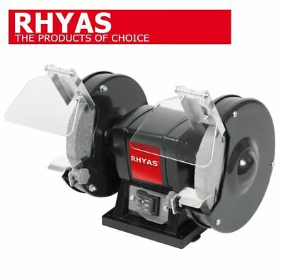 """Rhyas 150Mm 6"""" 150W Bench Grinder With Twin Grinding Stones New"""