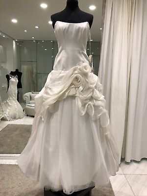Abito Da Sposa In Seta Atelier Aime' Taglia 44 Gonna Staccabile