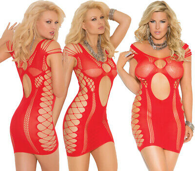 Elegant Moments Sexy Red Opaque Beach Mini Dress With Cut Outs