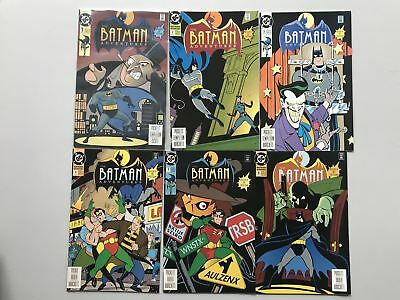 Run lot of 6 Batman Adventures (1992 1st Series) #1 2 3 4 5 6 VF-NM Near Mint