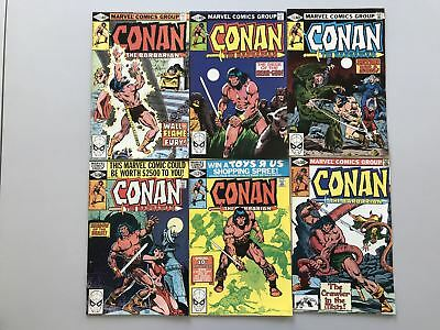 Lot of 12 Conan the Barbarian (1970 Marvel) #111-122 FN Fine