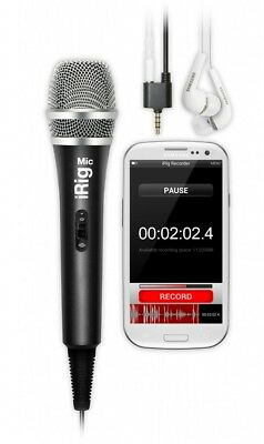 Microfono professionale per smartphone, iphone, tablet Ik Multimedia iRig MIC