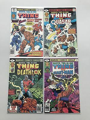 Lot of 4 Marvel Two-in-One (1974 1st Series) #51 53 54 55 FN-VF Very Fine