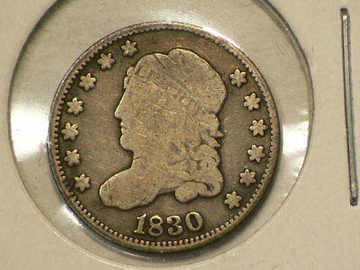 1830 US Capped Bust Silver Half Dime #G9952