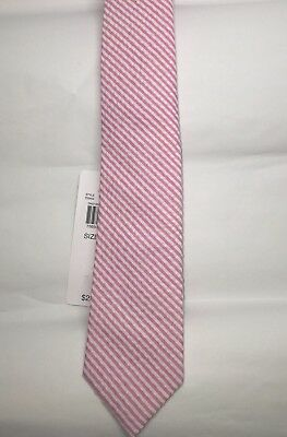 Lord and Taylor Boys Tie Pink And White- One Size