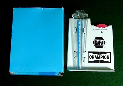Vintage NAPA , CHAMPION SPARK PLUG RAIN GUAGE **IN ORIGINAL BOX**